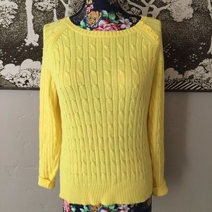 St. John's Bay Yellow Cable Knit Sweater